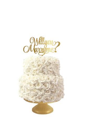 taarttopper voor huwelijksaanzoek, Will you marry me?
