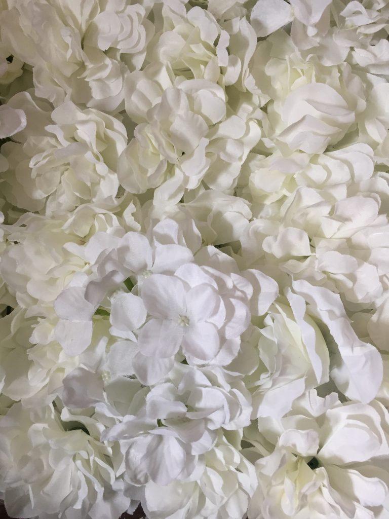 witte flower wall
